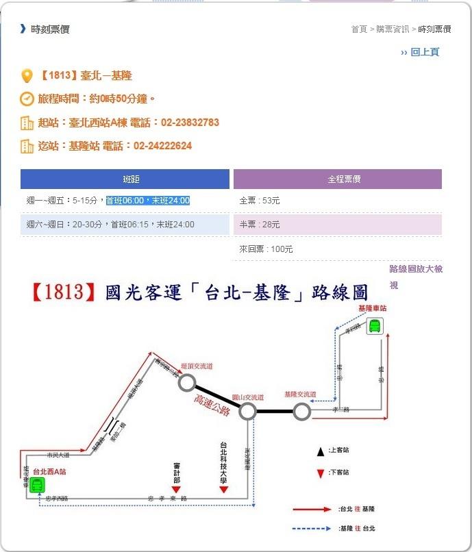 台北至基隆,搭最慢的火车(区间车),行车时间约45~50分钟,车次很多另外